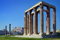 The Temple of Olympian Zeus, Athens. Completed 131 CE.