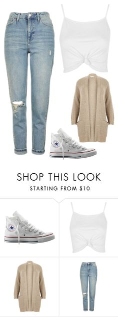 """Untitled #1542"" by chaoticaphrodite ❤ liked on Polyvore featuring Converse, Topshop and River Island"