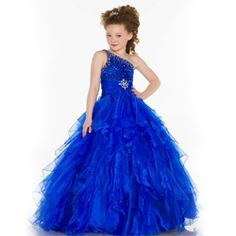 Attractive Blue Girl's #Dress