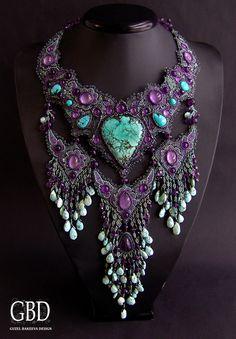 Wow...  Just wow...  <3  Guzel Bakeeva Design  http://guzelbakeeva.ru/category/Necklace/page/4/