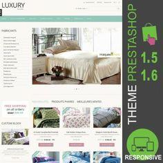 Thème PrestaShop 1.5 et 1.6 pour boutique en ligne dédié à la vente de linge de maison : housse de couette, draps, couette, coussins, dessus de lit…