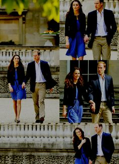 Strolling as husband and wife. Plus, Kate's in an $89 Zara dress! Just another reason to love her.