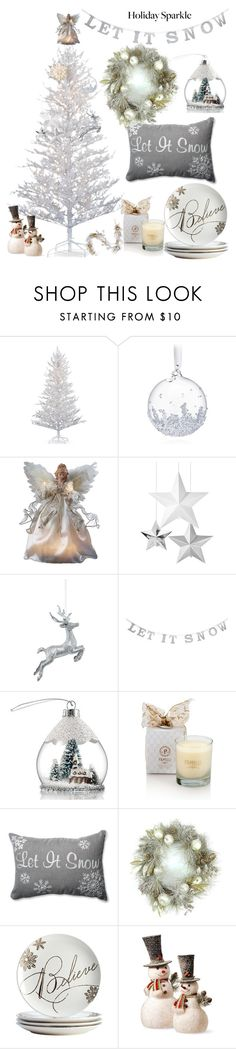 """For Your Christmas Inspiration"" by anifitria-af ❤ liked on Polyvore featuring interior, interiors, interior design, home, home decor, interior decorating, Improvements, Swarovski, Avon and GE"