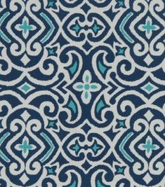 Home Decor Print Fabric- Robert Allen Baja Damask Marine & home decor fabric at Joann.com