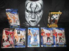 WWE TRU Lesnar, Target Rocky Maivia, Road Warriors, Luger, Flair & Sting Shirt #Mattel