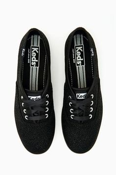 girls keds tennis shoes black on black size 1