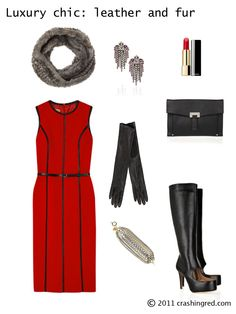 60dd04f6737 Elegant fall outfit with over the knee boots. Crashing Red · Polish Your  Style