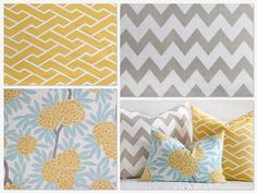 yellow, aqua, gray bedding. Would this work with brown instead of grey?  I like the grey, but the room is already painted brown.
