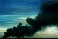 Smoke billows across Dublin Bay, Ireland