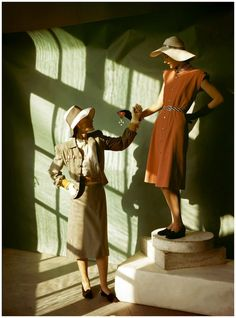 Photos from Vogue Magazine in the 1940s.