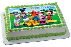 Mickey Mouse Clubhouse 3 Edible Cake OR Cupcake Topper – Edible Prints On Cake (EPoC)
