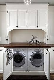 Image result for laundry under staircase