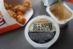 "Copycat Popeyes ""Blackened Ranch"" Sauce on Spork & Barrel Popeyes Gravy Recipe, Popeyes Copycat Recipe, Copycat Recipes, Sauce Recipes, Cooking Recipes, Cooking Tips, Blackened Ranch Recipe, Blackened Seasoning"