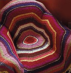 Radiant Circle Throw. Really great reviews on this throw. Like the idea all say it is so easy to knit & you can pick up and put down easily