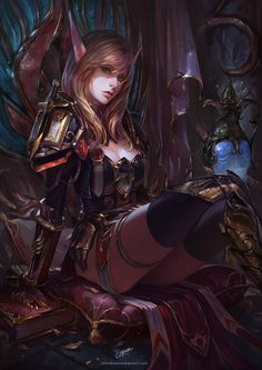 World of Warcraft by Chenbo Fantasy Art Village Social Network for Fantasy, Pinup, and Erotic Art Lovers! Fantasy Girl, Fantasy Warrior, Fantasy Women, Dark Fantasy, Final Fantasy, Fantasy Inspiration, Character Inspiration, Character Art, Elfa