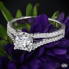 "Princess Cut Diamond set in ""Allegro in D"" Enagagement Ring"