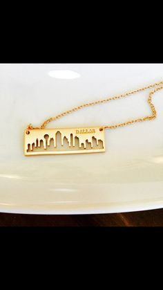 Dallas skyline necklace! Check out this item in my Etsy shop https://www.etsy.com/listing/265559590/dallas-skyline-neckace