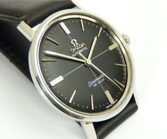 vintage gents Omega Auto Seamaster De Ville watch +box   eBay