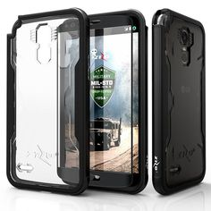 Zizo SHOCK Metal Bumper LG Stylo 3 / LG Stylo 3 Plus Case - Black