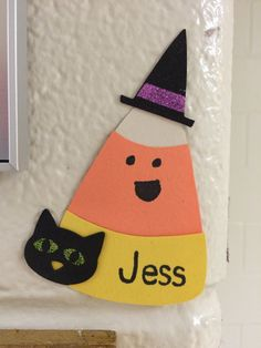 Candy corn door decs / door tags / name tags! Perfect for Halloween or fall! Resident advisor / resident assistant / RA