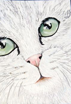 Check out this item in my Etsy shop https://www.etsy.com/uk/listing/463340519/cat-lover-gift-white-cat-art-original