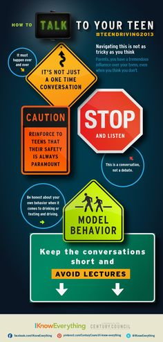 Parents, how will you talk with your teen about safe driving? Let I Know Everything help!