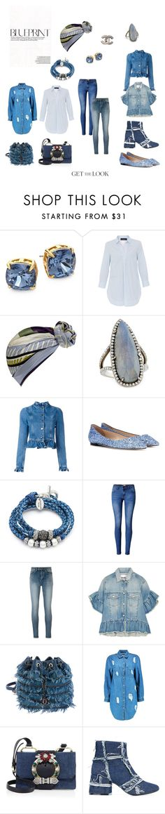 """""""Winter Blues"""" by true-fashion-addicts on Polyvore featuring Tory Burch, Piazza Sempione, Emilio Pucci, Sheryl Lowe, J.W. Anderson, Jimmy Choo, Lizzy James, WithChic, Yves Saint Laurent and MSGM"""