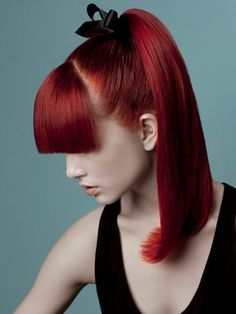 moderne frisuren rote haarfarbe haarfarben trends