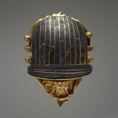 RISD Museum: Egyptian, New Kingdom, Scarab, -332–30 BCE, Gold and enamel, Gift of Mrs. Murray S. Danforth 32.242