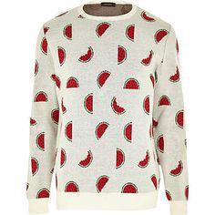White melons print jumper £32 #riverisland #RImenswear