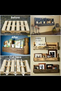 Amazing pallet idea! I want this for my kitchen :)