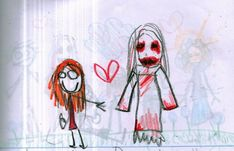 This Little Girls Disturbing Drawings of Her Imaginary Friend Will Creep You Out