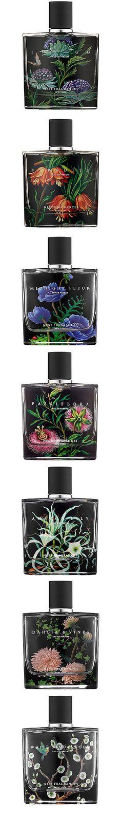 nest fragrances eau de parfum.   indigo, paradise, midnight fleur, passiflora, amazon lily, dahlia & vines, white sandalwood.