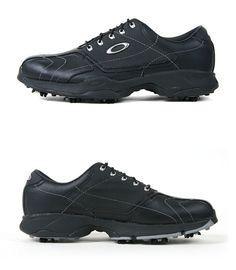 Oakley Mens Gear Drive Leather Black Golf Shoes US Size:10,10.5,11 #Oakley #GolfShoes