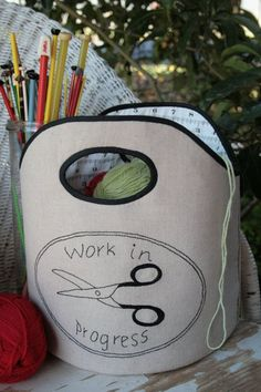 Work in Progress bag : a PDF sewing pattern