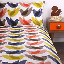 Buy Orla Kiely Birds Duvet Cover and Pillowcase Set Online at johnlewis.com
