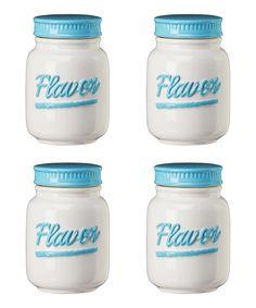 Look at this #zulilyfind! Dixie Kitchen 'Flavor' Spice Jar - Set of Four by Global Amici #zulilyfinds