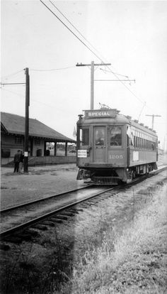 Title: Pacific Electric Car Creator/Contributor: Hait, Al Date: 1939 May 14 Yorba Linda California, Old Train Station, Orange County California, Electric Car, Haiti, Days Out, Historical Sites, Oc, Travel