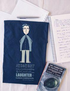 Science - Richard Feynman Organic t-shirt   Quote   Famous people shirt   Men's t-shirt