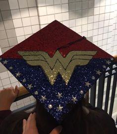 Wonder Woman graduation cap!