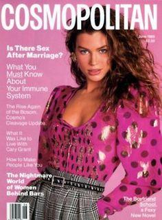 Cosmopolitan Vtg Fashion Magazine June 1989 - Carre Otis Cover - No Label - NM V Magazine, Fashion Magazine Cover, Fashion Cover, 80s Fashion, Magazine Covers, Fasion, Fashion Models, Natalia Vodianova, Claudia Schiffer