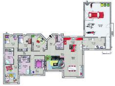 Plan  - maison - L'agrément des beaux espaces