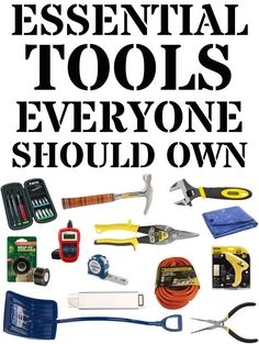 32 Essential And Inexpensive Tools Everyone Should Own   BuzzFeed - Definitely adding some of these items to my wish list.