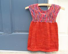 Technicolor T-Dress (sport weight) 18 months - 10 years