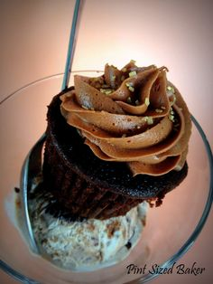 Pint Sized Baker: Coffee Ice Cream Chocolate Cupcakes with Chocolate Kahlua Frosting - To Die For!