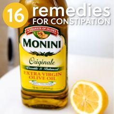 Natural ~ 16 Remedies for Constipation- to get things moving.
