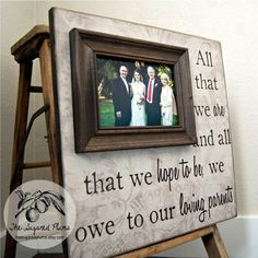 Parents Gift Personalized Picture Frame Custom