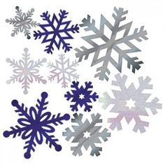 snow flake scatters on tables (@Maggie Thacker I think I have some of this already.)