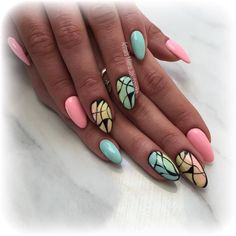 by Milena Jakubowska, Follow us on Pinterest. Find more inspiration at www.indigo-nails.com #nailart #nails #indigo #pastel