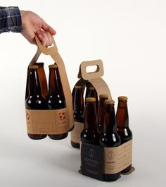In an approach of reduction of matter in combining two functions into one, I have explored the possibility of combining the function of the box and the label for traditional bottle of beer. Juice Packaging, Beverage Packaging, Coffee Packaging, Bottle Packaging, Brand Packaging, Chocolate Packaging, Kombucha, Food Packaging Design, Packaging Design Inspiration